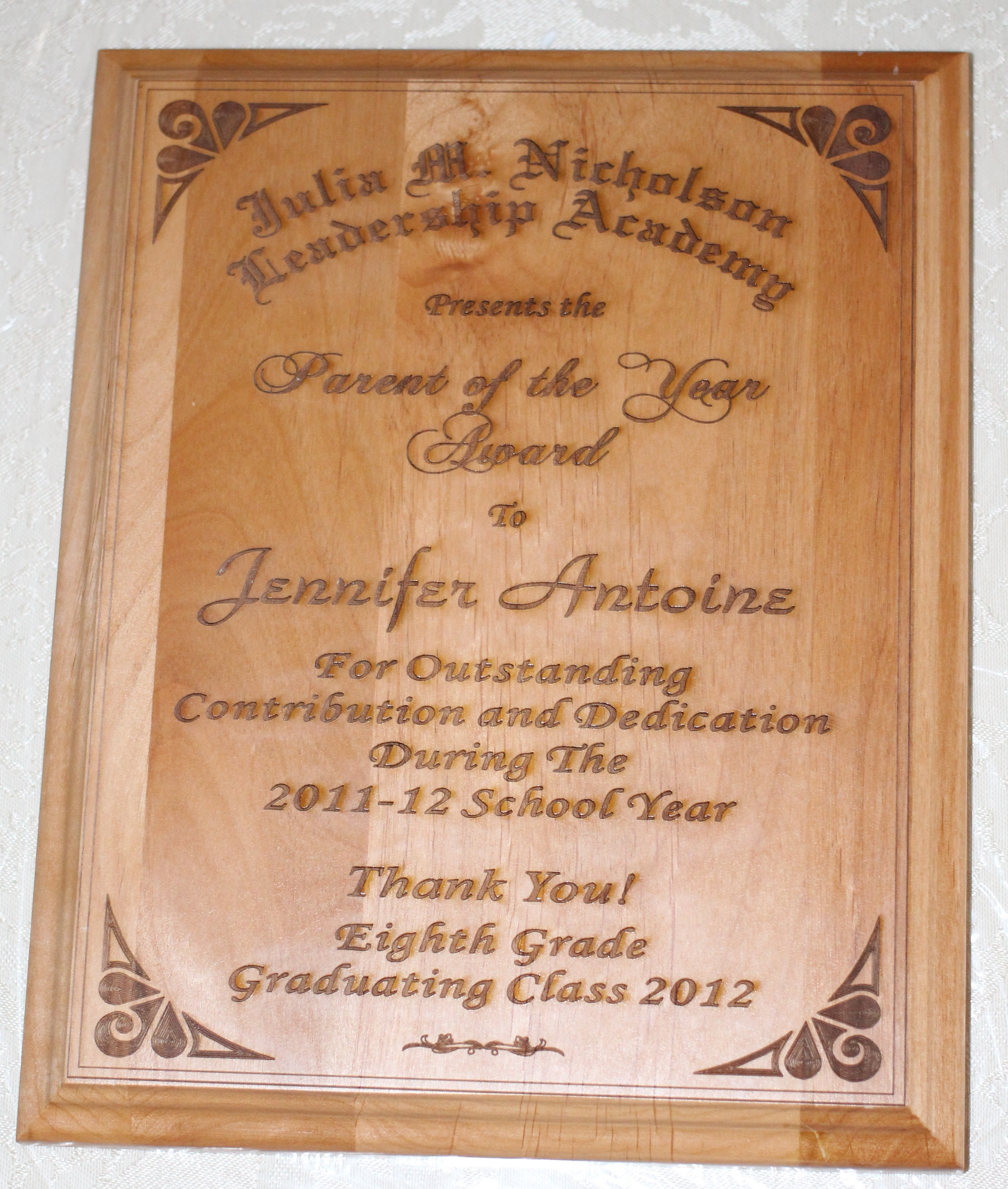Deluxe Wood Plaque
