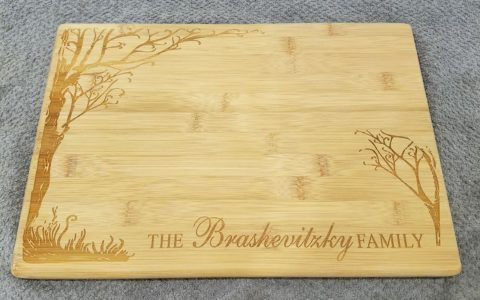 Custom Engraved Cutting (Challah) Board